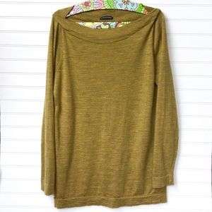 Eileen Fisher Sweater Scoop Neck Mustard Yellow